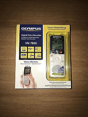 Olympus VN-7800 Digital Voice Recorder Dictaphone Brand New In Box