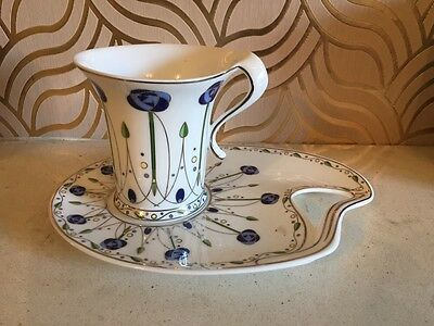 Fabulous Art Nouveau Style Leonardo Collection Cup And Snack Plate