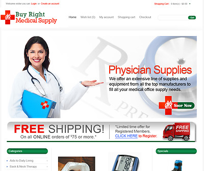 Medical products turnkey website for sale - Established Domain & Website
