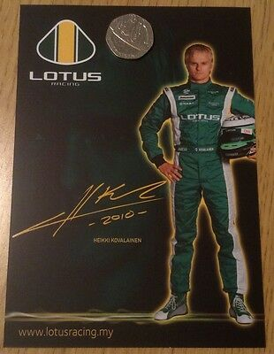 Lotus Racing F1 Team Heikki Kovalainen Official Issue 2010 Driver Card