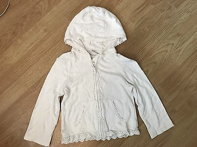 Girls White Hoody Size 4-5 Years