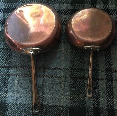 Two Fabulous Antique Copper Firing Pans