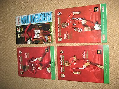 4 Wales football programme collection