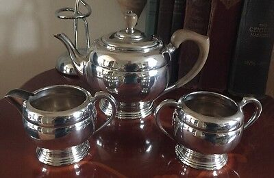 Fabulous Art Deco 3 Pc James Dixon Teaset