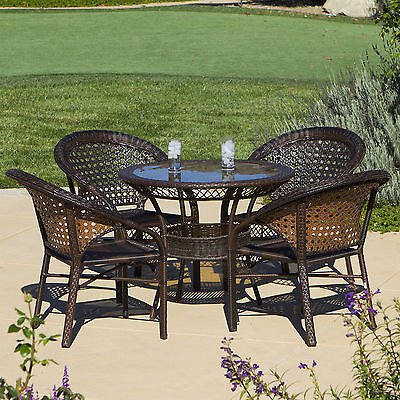 Assia 5 Piece Wicker Outdoor Dining Set Bay Isle Home FREE SHIPPING (BRAND NEW)