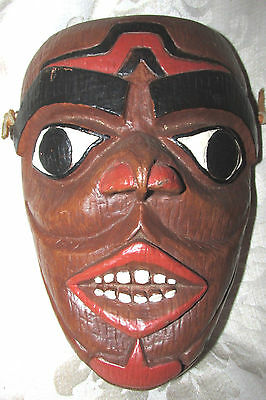 Canada SPIRIT MASK Tlingit by Shamans Ancestral Face First Nations  21CmL