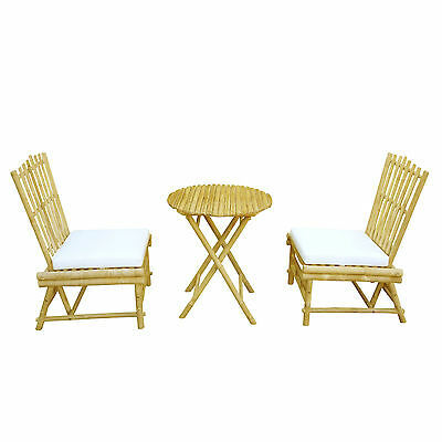 Bamboo 3 Piece Dinning Set with Cushion ZEW FREE SHIPPING (BRAND NEW)