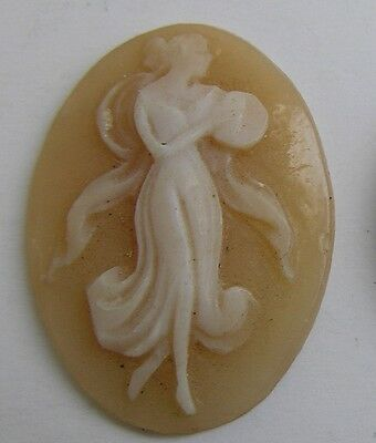 Unmounted Shell Cameo Italy Carved Victorian Walking Goddess