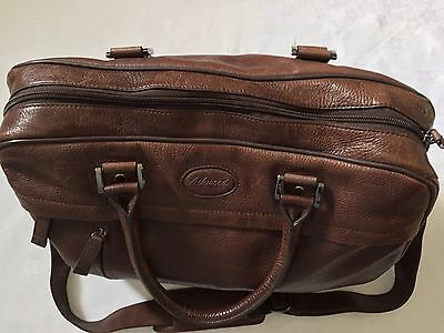 Large Brown Authentic Leather Bag Ashwood Travel Luggage Weekend Holdall
