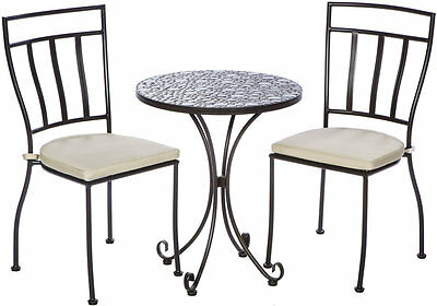 Mapleton 3 Piece Bistro Set with Cushions Three Posts FREE SHIPPING (BRAND NEW)