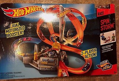 Hot Wheels Playset Kids Toy Car Race Track Set Action RaceTrack Spin Storm Play
