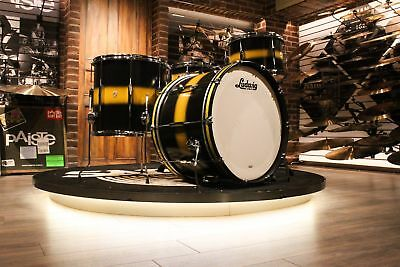 Ludwig Club Date USA 4-piece Black & Gold Duco Drum Set (13-16-22-14X6.5)- Demo!