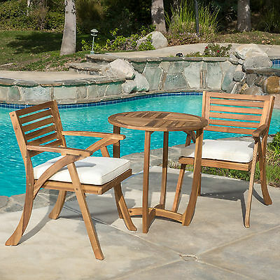 3 Piece Bistro Set with Cushions Mercury Row FREE SHIPPING (BRAND NEW)
