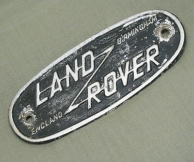 Genuine Vintage Land Rover Series 1 2 Grill Rear Tub Birmingham Badge Emblem