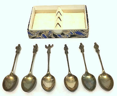 Boxed Set of 6 Apostle Spoons - (marks and stamps, see photo)