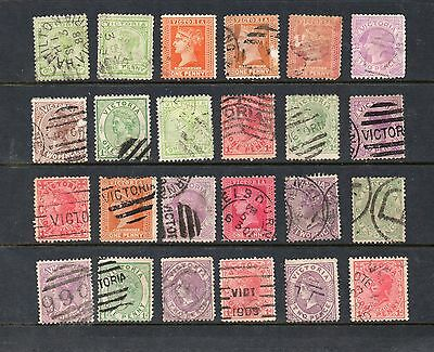 VICTORIA - 101 OLD STAMPS with VIC. postmark interest possibly AUSTRALIA 1c each