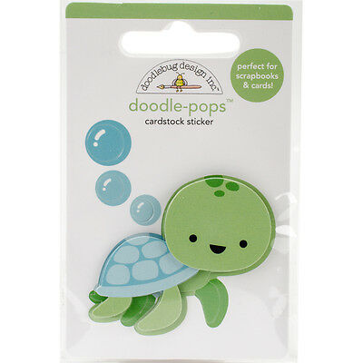 Doodlebug Doodle Pops 3D Stickers Tiny Turtle AA4976