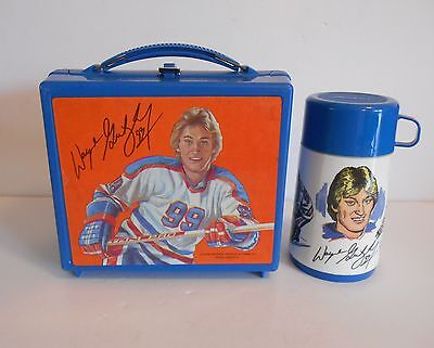 1980 Wayne Gretzky Canadian Lunchbox Thermos C9 Condition Rare All Blue Version