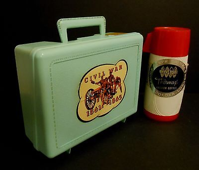 1961 Extremely Rare Universal Civil War R10 Mint lunchbox w/ rare thermos Tag !!