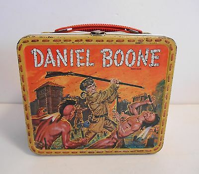 1955 Vintage Rare Daniel Boone Proto Type Lunchbox w/ stitching on Band Wow !!!