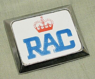 Vintage 70's RAC Royal Automobile Club Classic Car Grille Badge Emblem Mascot