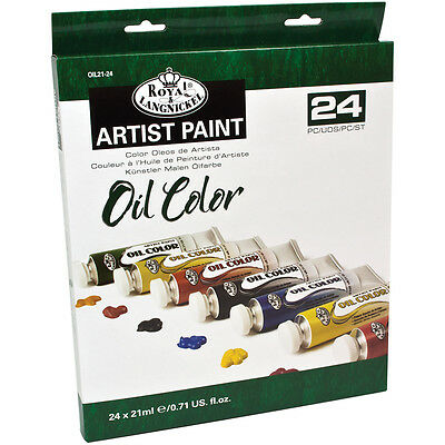 Oil Paints 21Ml 24/Pkg Assorted Colors OIL21-24