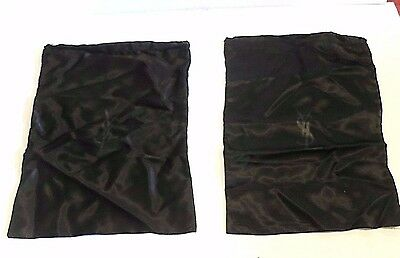 Ysl Yves Saint Laurent   Set Of 2  Black Satin   Dust Bag Sleeper  Shoes  Travel