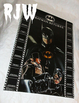 New Rare Batman Returns Dynamic Marketing Trading Cards Sticker Poster Stickers