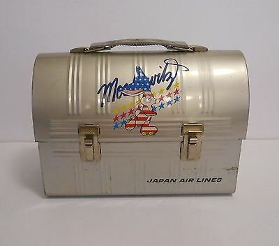 1974 Rare Japan Moskowitz Dome Japan Air Lines Lunchbox in Fine Condition !!!