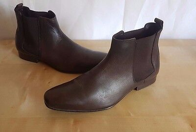 Men's Kurt Geiger Brown Leather Ankle Boots/Shoes - Size UK 8