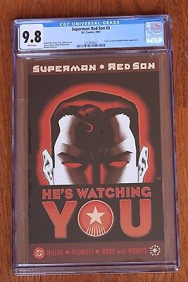 Superman: Red Son #3 (Aug 2003, DC) CGC 9.8 Graded NM with New Case Elseworld
