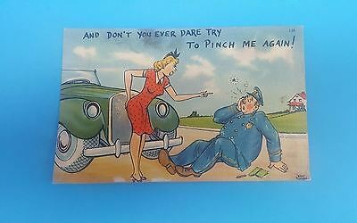 "PostCard 1940's ""AND DON'T YOU EVER DARE TRY TO PINCH ME AGAIN!""   Walt Munson"