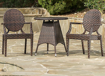 Carbonell Outdoor Wicker Bistro Set Mercury Row FREE SHIPPING (BRAND NEW)