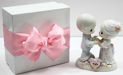 PRECIOUS MOMENTS We Share a Love Forever Young 50th Anniversary Bisque Figurine