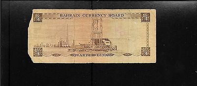 BAHRAIN CURRENCY BOARD PICK 2 QUARTER 1/4 DINAR 1964 FIRST ISSUE rare