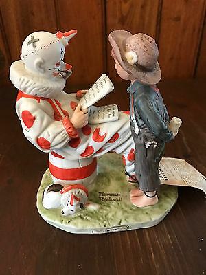 Vintage Norman Rockwell Satruday Evening Post CIRCUS Figurine, 1976 Made in USA