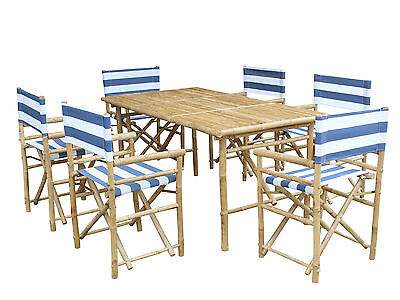 7 Piece Dining Set with Cushion ZEW FREE SHIPPING (BRAND NEW)