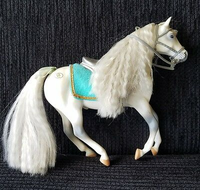 1993 CC Marchon Grand Champions Horse Grey and White w/ Saddle,Bridle & Blanket