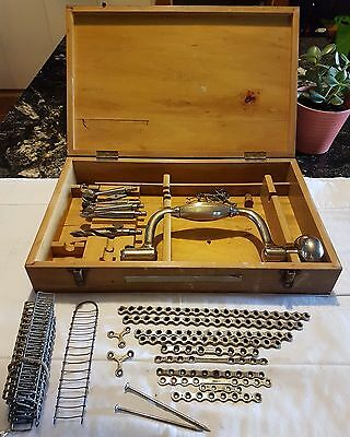 Vintage 1930's? DOWN BROTHERS Brace Hand Drill Surgical Orthopedic Kit