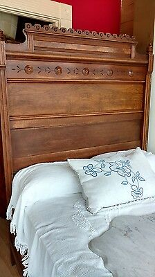 3 pc Walnut Antique Bedroom set, Victorian/ Eastlake Style, c 1880's, marble top