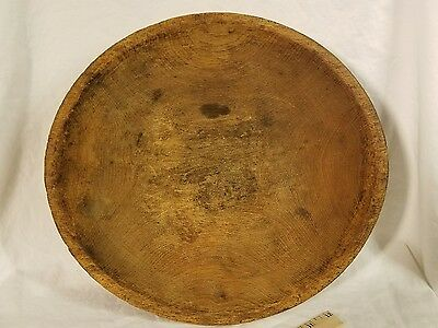 """Nice Desirable Native American Iroquois Indian 12""""  Carved Wooden Bowl - Exc +"""