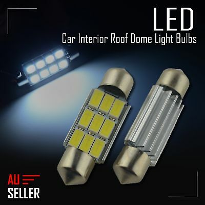 2 x 36mm 5630 9 SMD Canbus Festoon LED Car Interior Roof Dome 12V Light Bulbs