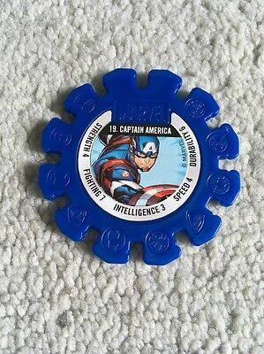 2017 Woolworths Marvel Heroes Collector Blue Super Disc #19 Captain America