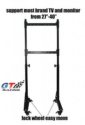 GT ART Racing Simulator Steering Wheel Stand SINGLE TV STAND