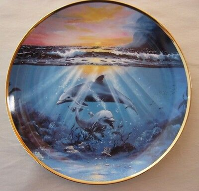Franklin Mint Collector Plate - Dance Of The Dolphin