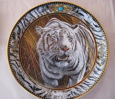 Franklin Mint Collector Plate - Prowl Of The Tiger - Very Ornately Decorated.