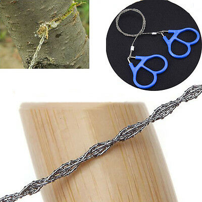 Camping Pocket Chain Saw Hiking Emergency Survival Steel Wire Saw Hand Tool Gear