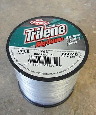 Berkley Trilene Big Game Mono Fishing Line, Clear - 20lb - 650yds