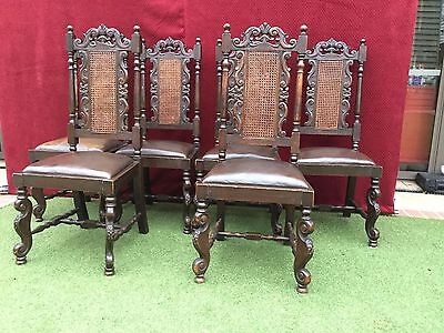 Antique Edwardian Dining Chairs.Set of Six.