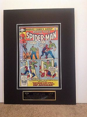 Stan Lee Autographed Marvel Tales #141 Display With Nameplate